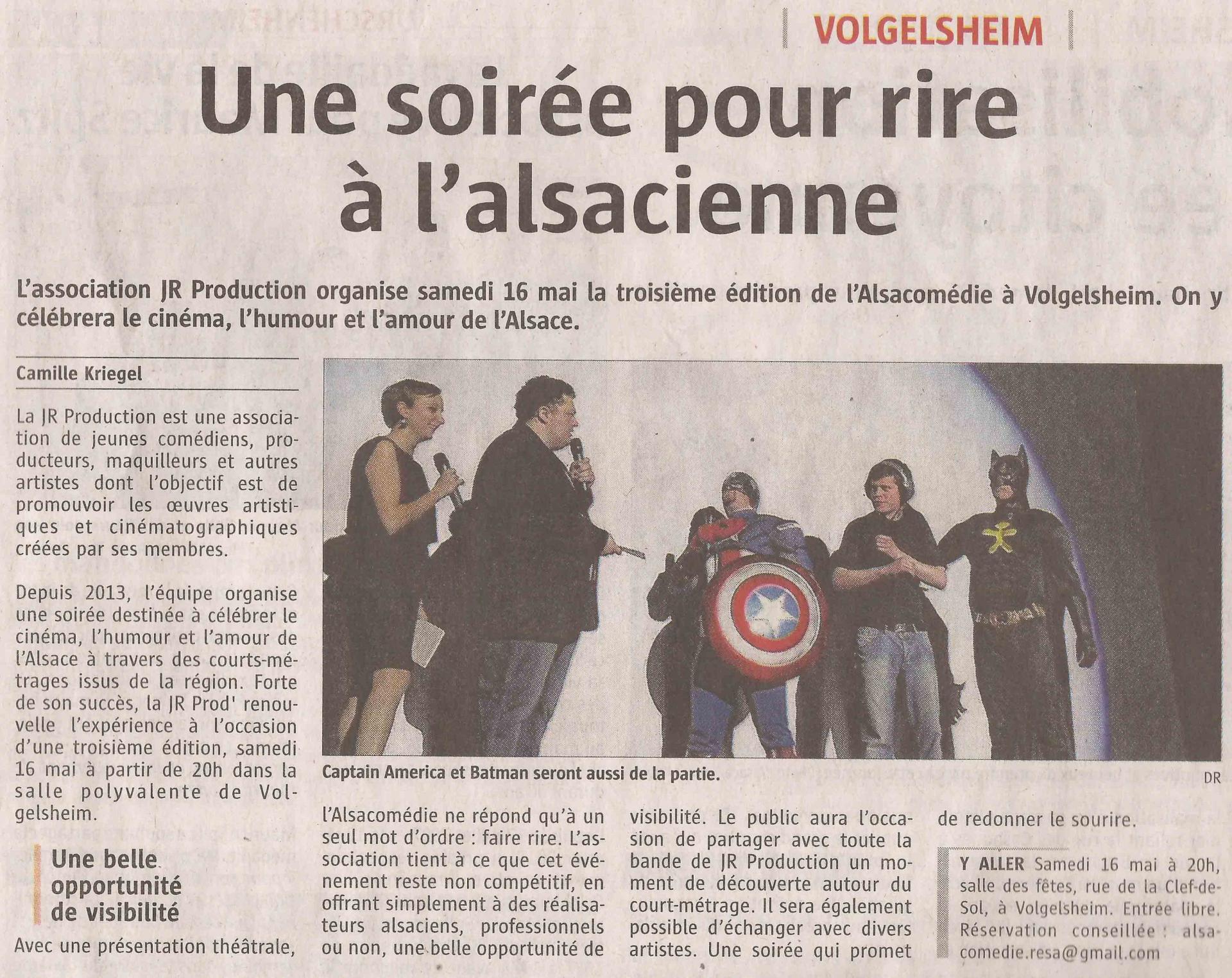 L'ALSACE (samedi 9 mai 2015)