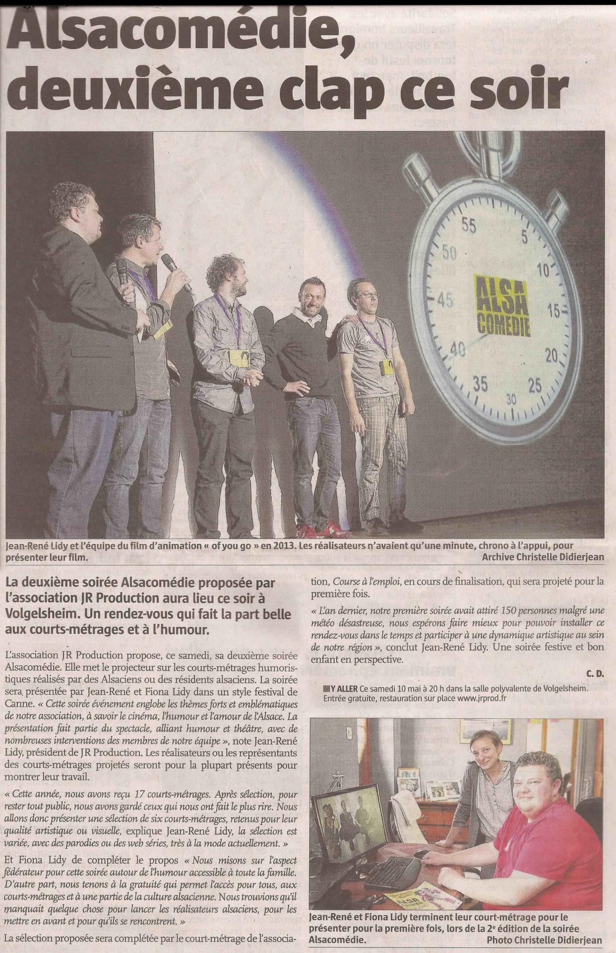 L'ALSACE (10 mai 2014)